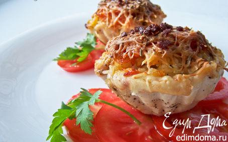 Рецепт Тарталетки из куриного филе с сочной начинкой
