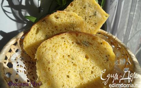 Рецепт Тыквенный хлебушек с зелёным луком