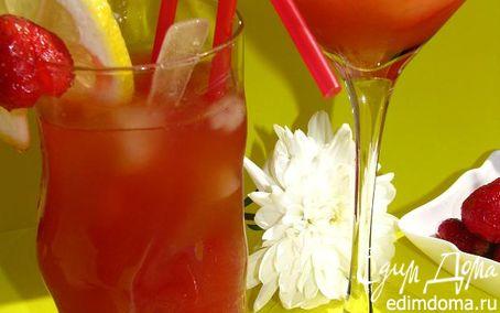 Рецепт Имбирно-клубничный лимонад для всех-всех