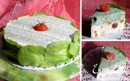 Рецепт Торт-мусс с курицей, шпинатом и черри