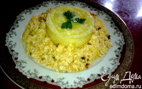 Рецепт Мамалыга с жареным адыгейским сыром