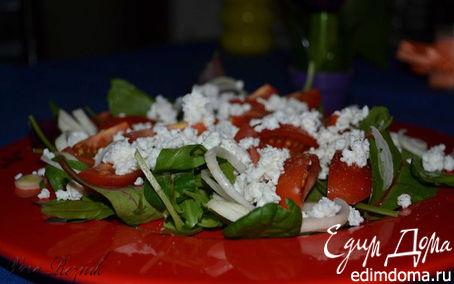 Рецепт Зеленый салат с помидорами черри и рикоттой