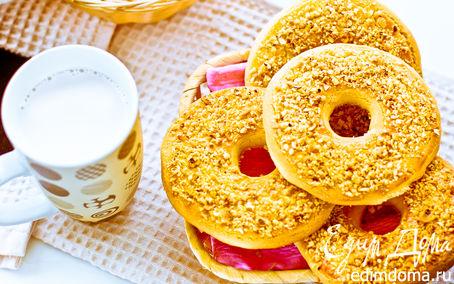 Рецепт Песочное кольцо с орехами