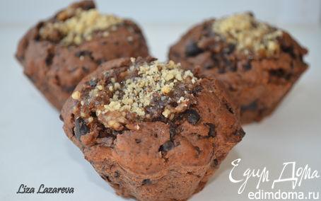 Рецепт Шоколадные кексы с ореховой начинкой