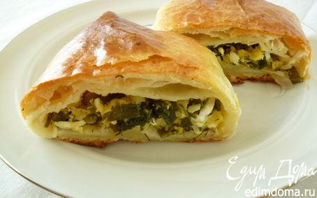 Рецепт Пирог с зеленью и сыром из слоеного творожного теста для Светланы Горбуненко