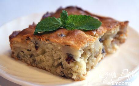 Рецепт Грушевый пирог с мятой и фундуком