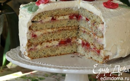 Рецепт Клубнично-маковый торт