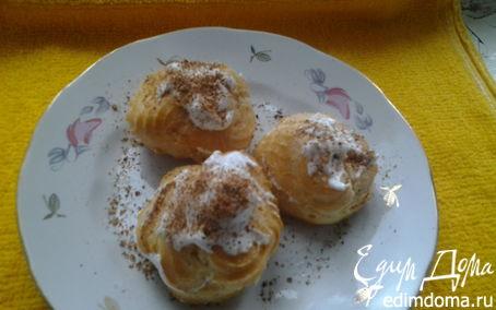 """Рецепт Пирожное """"Шу"""" с белковым заварным кремом"""