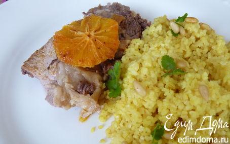 Рецепт Баранина с восточными мотивами, с апельсином и булгуром