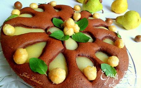 Рецепт Пирог с грушами и макадамией