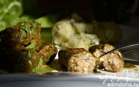 Рецепт Зеленые голубцы с листьями мангольда, шпината и вкусом лета