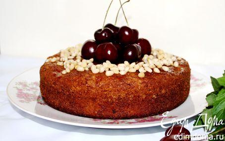 Рецепт Черешневый пирог с кедровыми орехами