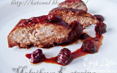 Рецепт Куриные грудки в вишневом соусе