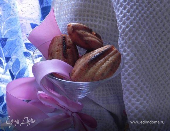 """Печенье """"Мадлен"""" с апельсинами и фисташками(постное)"""