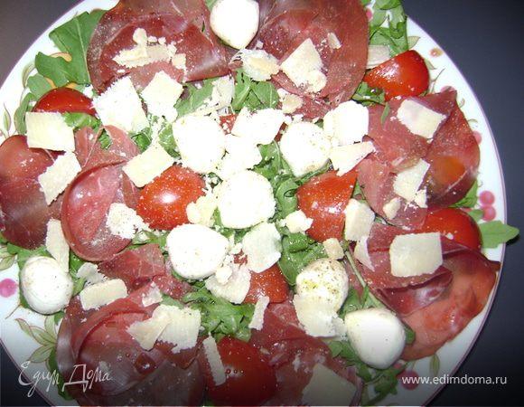 Салат из руколы с брезаoла