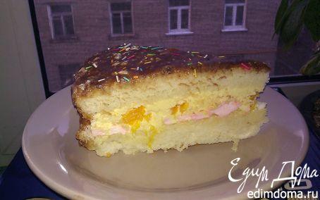 Рецепт Зефирно-апельсиновый торт