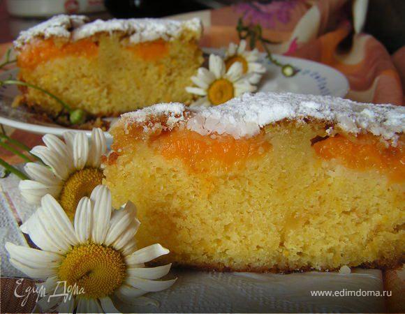"""""""Абрикосовый рай"""", или Очень вкусный йогуртовый кекс с абрикосами"""