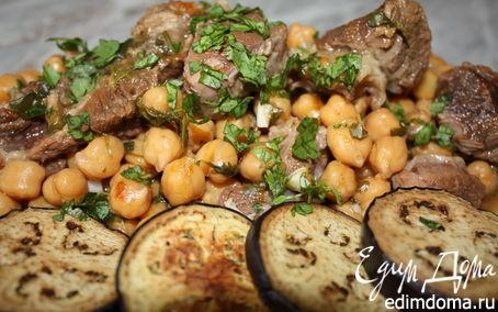 Рецепт Ароматная говядина с нутом и ткемали