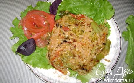 Рецепт Соте из риса с брокколи