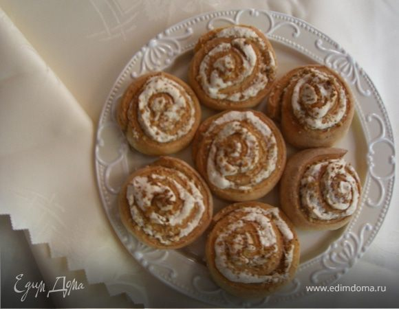 Розочки с грецкими орехами