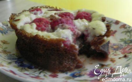 Рецепт Блинные корзиночки с малиной и йогуртовым кремом
