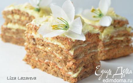 Рецепт Воздушное миндальное пирожное с ванильным ароматом