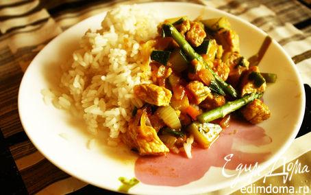 Рецепт Рис с мясом и овощами