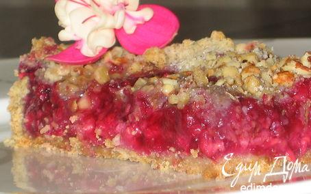 Рецепт Малиново-ореховый пирог