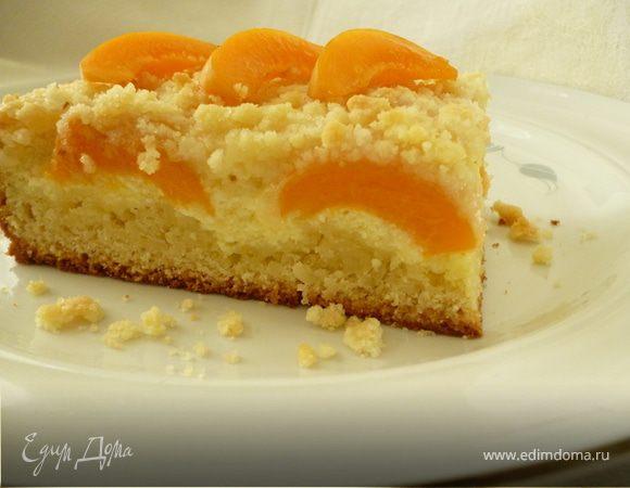 Творожно-абрикосовый пирог
