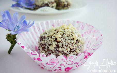 Рецепт Шоколадные трюфели с малиной, белым вином и белым шоколадом