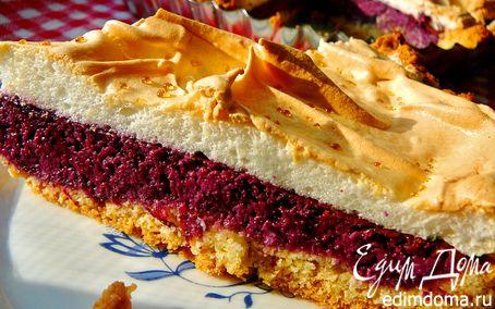 Рецепт Чернично-творожный пирог с белковым суфле