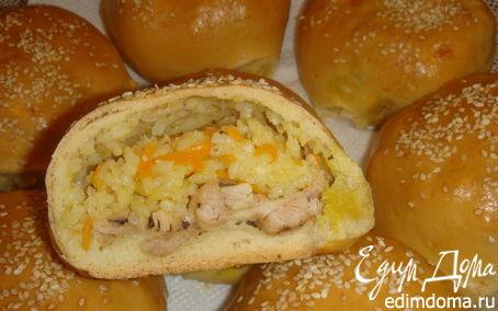 Рецепт Рис с мясом в булочке