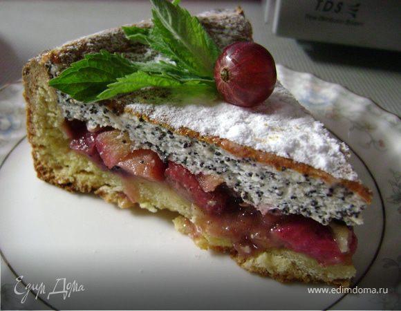 Пирог с крыжовником, смородиной и яблоками
