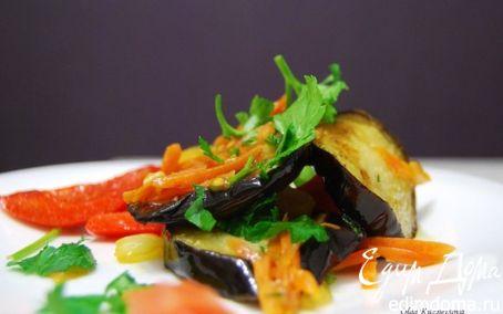 Рецепт Теплый салат с баклажанами