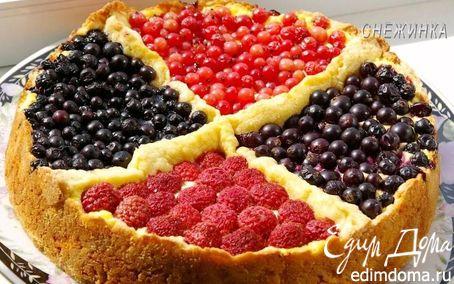 Рецепт Творожный пирог «Четыре ягоды»