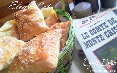 Рецепт Пирожки с начинкой из курицы и зеленого лука в сливочном соусе
