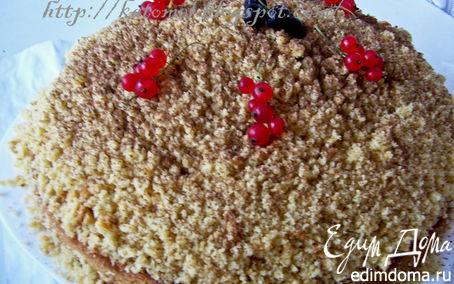 Рецепт Йогуртовый ягодный торт с орехами