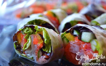 Рецепт Роллы с лососем (Spring-rolls)