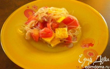 Рецепт Теплый салат с беконом и фунчозой