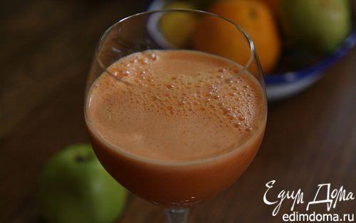 Рецепт Яблочно-морковный сок со шпинатом