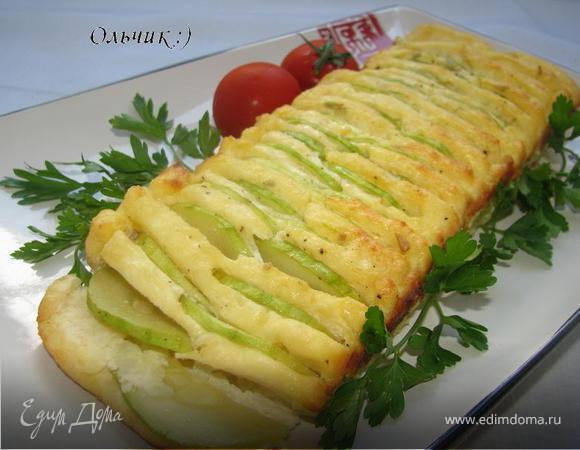 Творожно-рисовый кекс с кабачками