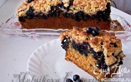 Рецепт Чернично-кокосовый пирог