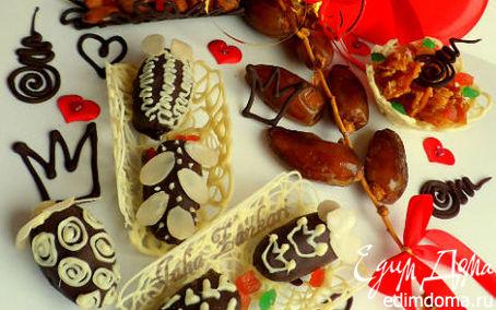 Рецепт Финики с миндалем в шоколаде