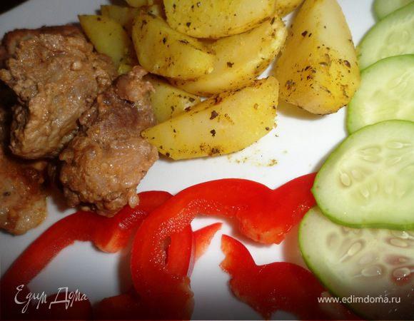 Свинина с пряными картофельными дольками для Апрель