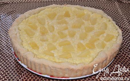 Рецепт Пирог с творогом, кокосом и ананасом
