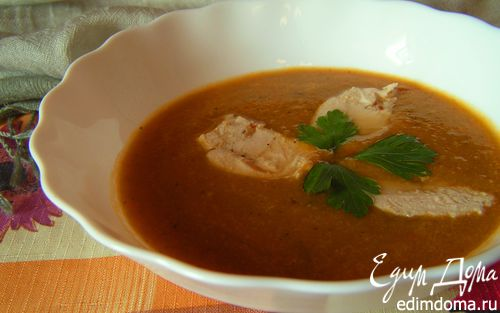Рецепт Суп-пюре из печеных овощей с курицей