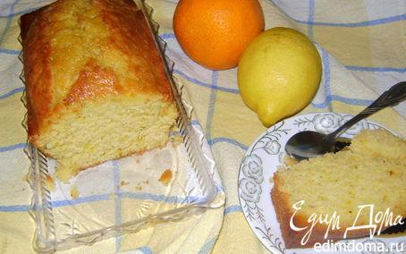 Рецепт Апельсиново-лимонный кекс с шафраном