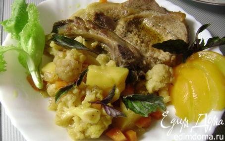Рецепт Свиная отбивная, запеченная с карри