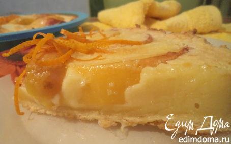 Рецепт Пирог с нектаринами и ванильным кремом