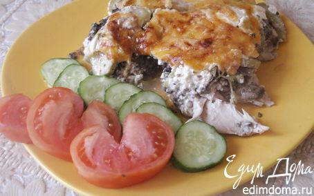 Рецепт Запеканка из курицы с шампиньонами